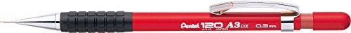 pentel-hi-graph-mechanical-pencils-03-mm-fixed-barrel-4-mm-red