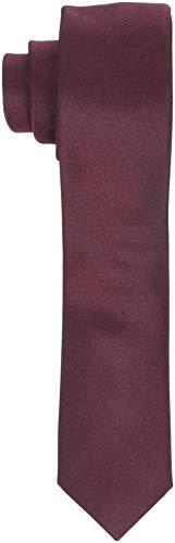 SELECTED HOMME Herren SLHPLAIN TIE 5CM NOOS B Krawatte, Braun Rum Raisin, One Size