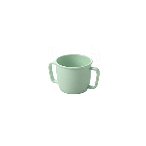 ghfcffdghrdshdfh Bamboo Double Handle Child Cup 230ml Nordic Green Daily Supplies Nordic Cup