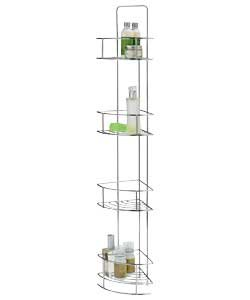 Bathroom Storage Solution Stilvolles chrom-Finish Draht 4Etagen Caddy/Badezimmer Stauraum-Ideal Speicherlösung für Ihr Bad (H87, W14, 14cm) -