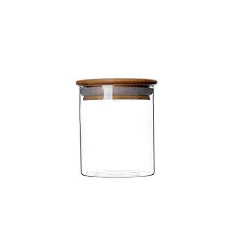 1 Unze Lebensmittel (XUMIN 1 STÜCKE 250 ML 8,5 Unze Leere Nachfüllbare Klarglas Versiegelten gläsern mit Bambusdeckel Haushalt Küche Verschiedene Lebensmittel feuchtigkeitsfest)
