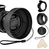 55mm Gegenlichtblende Set für Nikon D3400 D5600 AF-P DX NIKKOR 18-55mm f/3.5-5.6G VR