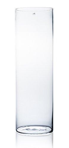 Glasvase CYLI klar zylindrisch 80 cm Ø 25 cm von Sandra Rich