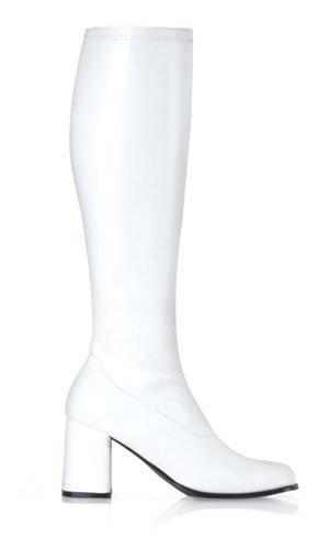 Pleaser Stretch-Kniestiefel Gogo-300 Absatz 7,6 cm (Orange Gogo Stiefel)