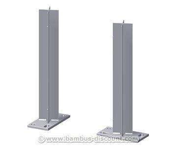 bambus-discount.com Zaunpfosten Träger für WPC Pfosten zum Aufschrauben - Sichtschutz, Sichtschutz Elemente, Sichtschutzwand, Windschutz