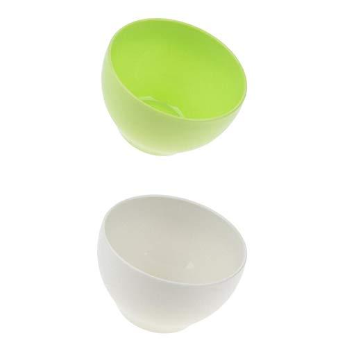 Fenteer 2 Stück Müslischalen Snackschalen Dipschalen Salatschalen in 2 Farben, Wiederverwendbar, Umweltfreundlich, BPA frei