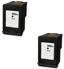 Printing Pleasure 2 XL Negro Cartuchos de Tinta compatibles para HP DeskJet 3630 2130 2132 1110 Envy 4527 4524 4520 OfficeJet 3830 3831 4650 4655 4656 4658 5230 | Reemplazo para HP 302XL (F6U68AE)