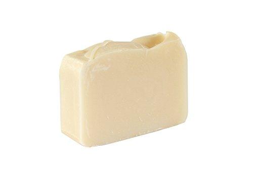 Pastilla de jabón blanco natural (4Oz)- Hipoalergénico, sin aromas ni colorantes (4Oz) - Orgánico y artesanal para pieles sensibles. Jabón corporal y facial hidratante. Con manteca de karité, aceite de coco.