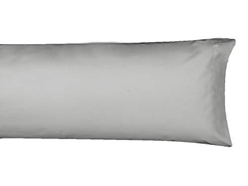 MI CASA F.Almohada Basic 150 OSC Funda de Almohada, Gris Oscuro, 150cm