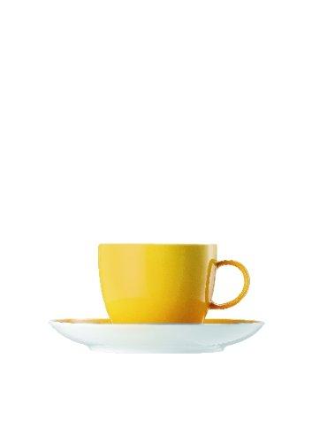 Service Rim Plate (Thomas Sunny Day Yellow Kaffeetasse 2tlg. / bestehend aus Kaffee-Obertasse und Kaffee-Untertasse / Tasse / Gelb)