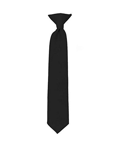 Krawatte in solider Farbe für Jungen, Schwarz/20,3 cm (Jungen Clip-on-krawatten)
