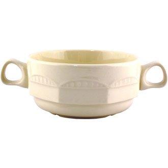 Monte-carlo-becher (Steelite V3637Monte Carlo Tasse Suppe, Griffen, elfenbeinfarben (36Stück))