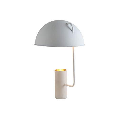 Lampes de table de lecture à LED, fer post-moderne LED noir/blanc en forme de champignon décoratif lumière de bureau bureau créatif simple étude chambre bureau lampe d'éclairage (Color : White)
