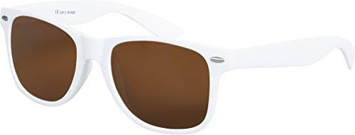 Hochwertige Nerd Sonnenbrille matte Rubber Retro Vintage Unisex Brille mit Federscharnier - 101...