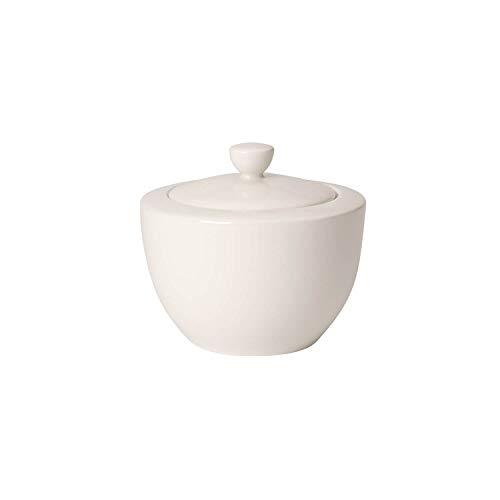 Villeroy & Boch For Me Zuckerdose, klassischer Zuckertopf mit Deckel für Zucker aus Premium Porzellan, spülmaschinengeeignet, 300 ml