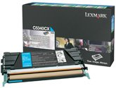 Lexmark 00C5340CX - LEXMARK C534 7K CYAN RTRN PROG TONER - 7k Toner Cyan