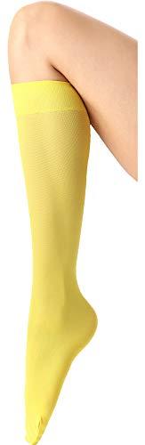 Calcetines amarillos largos para mujer