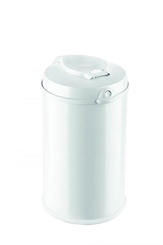 Preisvergleich Produktbild Fillikid Windeleimer Exklusiv | Windeltwister geruchlos | fasst ca. 40 Windel | gross und komfortabel 30 L | Metall weiß mit Abdichtung | für normale Müllbeutel | keine teuren Nachfüllkassetten