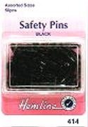hemline-h41400-black-colour-coating-safety-pins-23mm-50pk-in-a-storage-box