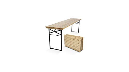 MobEventPro Table de Brasserie en Bois Pliante 218 cm
