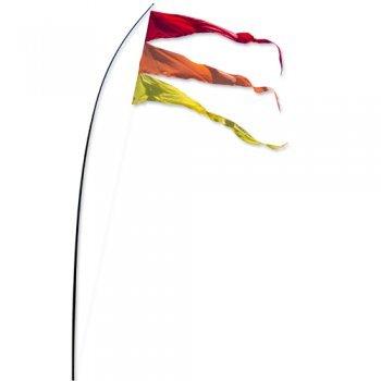 Fahnen - Bogen Banner Warm Summer - UV-beständig und wetterfest - Abmessung: 160x75cm - inkl. Teleskopstab und Bodenanker (Warm ()