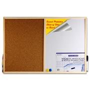 premier-60x40cm-combination-wallboard-with-wooden-frame-pen-eraser-and-two-magnets