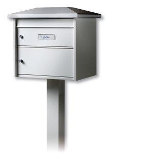 Burg Wächter de support de boîte aux lettres, l'aluminium, l'Europe EST 1 W, Blanc