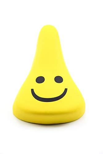 BISOMO Fahrrad Kindersattel - Kinder Junior Sattel - Gelb - Motiv Smiley - -