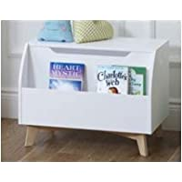 UTEX Children Toy Box with Front Book Storage Area, White ...