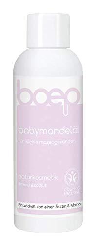 boep babymandelöl - Babyöl für die Neugeborenenpflege & Massage - Naturkosmetik, liebevoll entwickelt von einer Ärztin und Mama (150ml)
