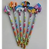 Sealife lápices con peces de goma para fiestas, Paquete de 24