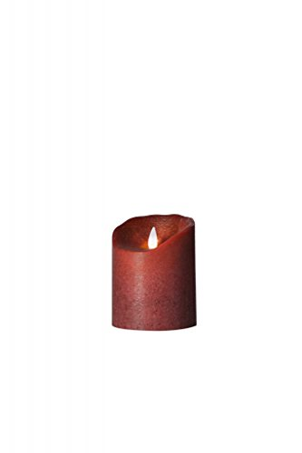 Vela LED Sompex Flame de cera real, mando a distancia y temporizador integrado, frosted bordeaux, 0 x 8 x 10 cm