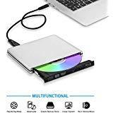 TPFeel External Blu Ray Burner Drive,USB3.0 and Type-C Aluminum Portable CD/DVD/BD Burner/Writer 3D