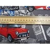 "Benartex Kanvas Studios ""London Bridge 'Por Maria Kalinowski, Mini coup-c 5535. Algodón Quilting tela 50X110cm (múltiples pedidos se corte como una longitud continua)"