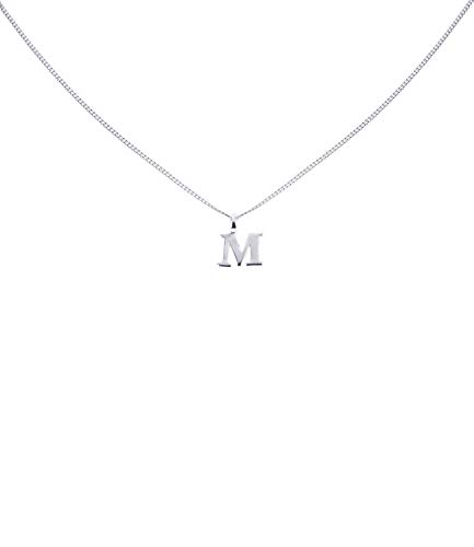 """SIX Silber Buchstaben Kette, Halskette mit Buchstaben Anhänger\""""M\"""", 925 Silber Charm (386-073)"""