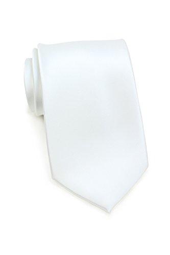 PUCCINI Schmale Krawatte, einfarbig, verschiedene Farben, Mikrofaser, Satinglanz, Handarbeit, 6 cm Slim Tie, Büro - Hochzeit - Alltag (Weiß) (Outfits Für Hochzeit)