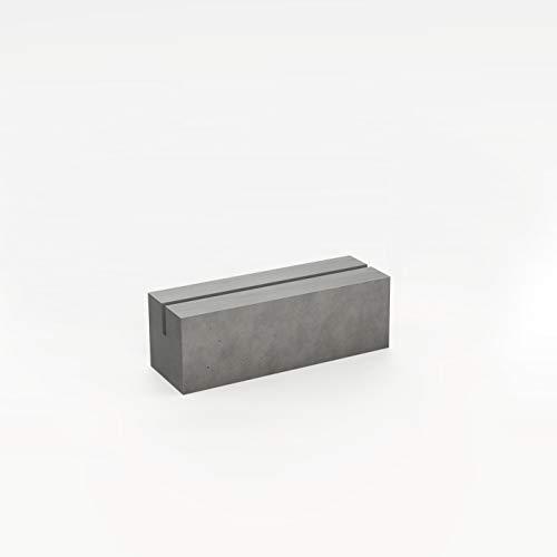 CO33 Beton Tischaufsteller klein Menükartenhalter mit 1 Nut