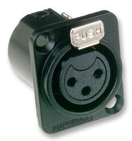 XLR SOCKET, 3P PANEL, UNIFIED, BLK AC3FDZB By AMPHENOL Unified Video