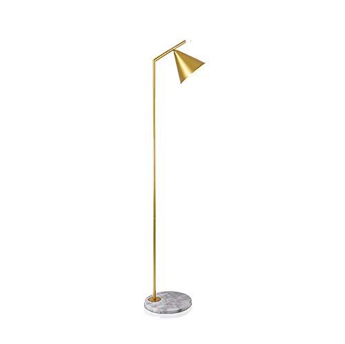 LIUX Kreative E14 Schraube Einzelnen Gold Emaille Beschichtung Prozess Auswahl Komfortable Farbe Metall Lampenschirm Schlafzimmer Wohnzimmer Studie Balkon Moderne LED Energiesparende Auge Stehleuchte