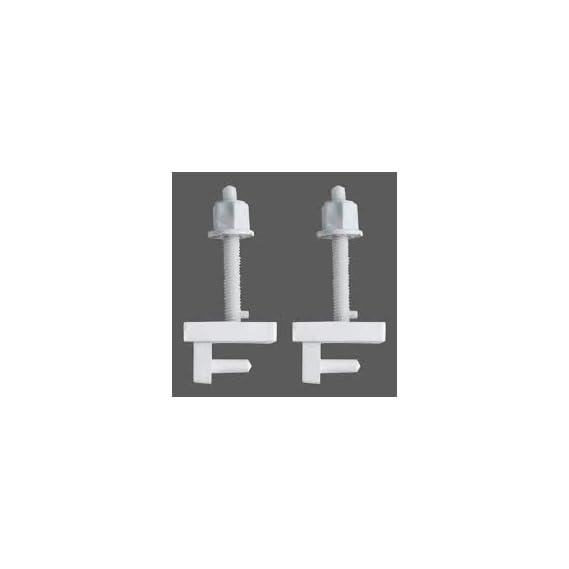 Box Type Toilet Seat Cover Screw Hinges (2 Pcs)