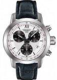 Tissot PRC200 Herren-Armbanduhr, weißes Zifferblatt, schwarzes Leder, T0552171603800