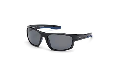 Timberland tb9171 occhiali da sole, shiny black/smoke polarized, 63 uomo