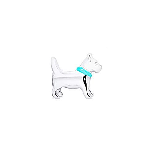 AKKi jewelry Element für Medaillon Kette,Petite Charms Elemente Pandora Style kompatibel Locket Memories Damen Schmuck Set Angebot Hund