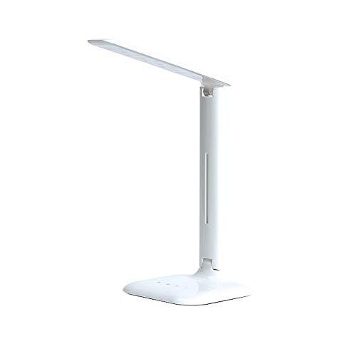 ZKKAW LED Eye-Caring Schreibtischlampe, Smart Touch Schreibtischlampen, Faltbare LED Dimmbare Tischlampe mit USB Ladeanschluss zum Lesen, Studieren, Arbeiten, Weiß