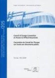 Convention du Conseil de l'Europe sur l'accès aux documents publics : Edition bilingue français-anglais par Council of Europe