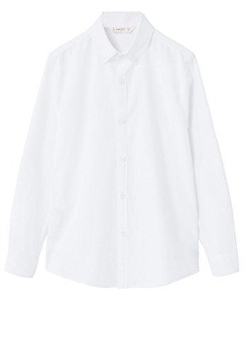 mango-kids-chemise-basique-chemise-coton-taille11-12-ans-couleurblanc