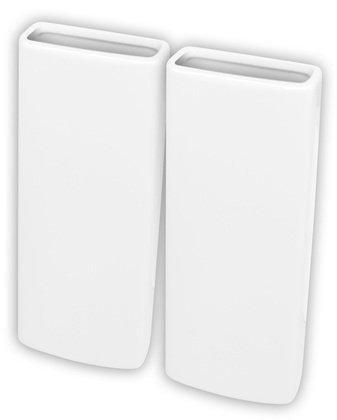 Metall-luftbefeuchter (Doppelter Luftbefeuchter aus Keramik zum Befestigen an der Heizung, Weiß)