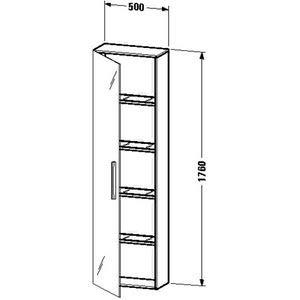 Duravit ve1175l1313Kleiderschrank Spalte Tür Spiegel links Amerikanisches Hickory 500x 240 -