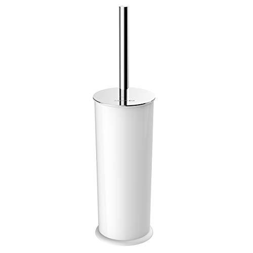 Homemaxs WC-Bürste und Halter, Dicht Toilettenbürste mit Edelstahl-Halter - kompakte Lange Griffe, Starke Borsten und ausreichend schwere Basis - perfekt für Badezimmer WC