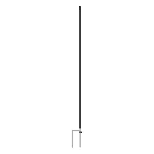1x piquet de rechange / complémentaire VOSS.farming pour filet hauteur 106 cm, 2 pointes, coloris noir